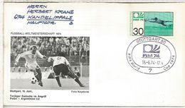 ALEMANIA 1974 FDC STUTTGART COPA MUNDIAL DE FUTBOL FOOTBALL WORLD CUP - Copa Mundial