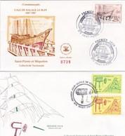 Saint-Pierre Et Miquelon - Lot 4 Enveloppes FDC Vieux Métiers - CAD 1987-93 - Timbres YT 479-535-536-561-562-576-577 - FDC