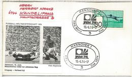 ALEMANIA 1974 FDC HANNOVER COPA MUNDIAL DE FUTBOL FOOTBALL WORLD CUP - Copa Mundial