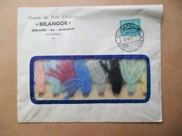 """Brief Omslag Met Inhoud Plus Zegel             1946  """" BELANGOR """"  EDELAERE -lez-  Audenarde - Reclame"""