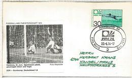 ALEMANIA 1974 FDC HAMBURG COPA MUNDIAL DE FUTBOL FOOTBALL WORLD CUP - Copa Mundial