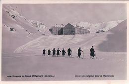 Hospice Du Grand St Bernard, Promenade à Ski Des Religieux (4118) - VS Valais