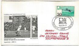 ALEMANIA 1974 FDC GELSENKIRCHEN COPA MUNDIAL DE FUTBOL FOOTBALL WORLD CUP - Copa Mundial