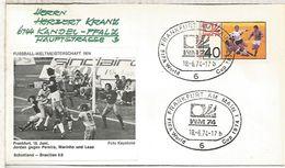 ALEMANIA 1974 FDC FRANKFURT AM MAIN COPA MUNDIAL DE FUTBOL FOOTBALL WORLD CUP - Copa Mundial