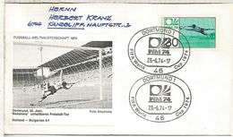 ALEMANIA 1974 FDC DORTMUND COPA MUNDIAL DE FUTBOL FOOTBALL WORLD CUP - Copa Mundial