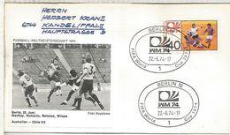 ALEMANIA 1974 FDC BERLIN COPA MUNDIAL DE FUTBOL FOOTBALL WORLD CUP - Coppa Del Mondo