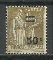 FRANCE , FRENCH , Surchargé 50 C Sur 1 F 25 , Type Paix , 1934 , N° YT  298 ( * ) - 1932-39 Peace