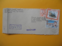 Lettre  Cuba 1988  En Recommandé  De Cuba Universidad  Pour La France - Cartas