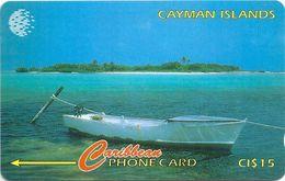 Cayman Isl. - Boat Across Owen Island, 163CCIG, 1997, 10.000ex, Used - Cayman Islands