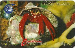 Cayman Isl. - Crab, 3CCIB, 1991, 10.000ex, Used - Cayman Islands