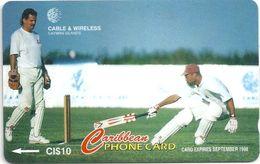 Cayman Isl. - Cricket Jimmy Adams, 224CCIA, 1997, 10.000ex, Used - Cayman Islands