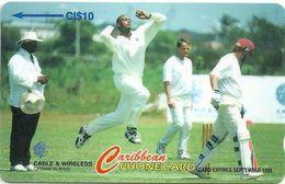 Cayman Isl. - Cricket Courtney Walsh, 224CCIC, 1997, 10.000ex, Used - Cayman Islands