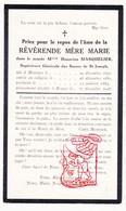 DP EZ Honorine Masquelier - Zr. Soeur Mère Marie ° Mesen Messines 1851 † Brugge 1926 - Devotieprenten