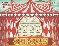 2018-ED. 5208 - EN PLIEGO PREMIUM  Efemérides. 250 Años De Circo (1768-2018) GIRONA CIRCUS WORLD CAPITAL-NUEVO - Blocks & Sheetlets & Panes