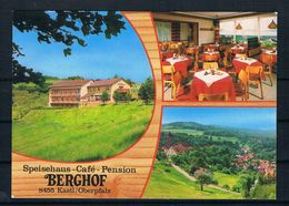 """(2293) AK Kastl - Oberpfalz - Speisehaus-Cafe-Pension """"Berghof"""" - Amberg"""