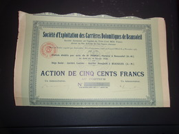 EXPLOITATION DES CARRIERES DOLOMITIQUES DE BEAUSOLEIL (alpes Maritimes) - Shareholdings