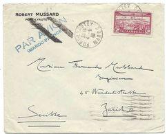 MAROC - SUISSE 4 MAI 1935 PORT-LYAUTHEY Lettre Par Avion Pour Zurich, Via MARSEILLE AVION, Timbre Avion 2F50 Seul - Morocco (1891-1956)