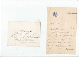 MELANIE REBOUX (1834 1876) SOPRANO FRANCAISE CANTATRICE MORTE A 33 ANS LETTRE A SIGNATURE - Autographes