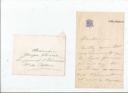 MELANIE REBOUX (1834 1876) SOPRANO FRANCAISE CANTATRICE MORTE A 33 ANS LETTRE A SIGNATURE - Autografi