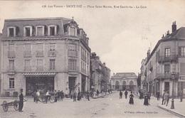CPA (88) SAINT DIE Place Saint Martin Rue Gambetta La Gare - Saint Die