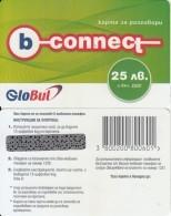BULGARIA - B-connect By Globul Prepaid Card 25 Leva, Sample(no CN) - Bulgaria