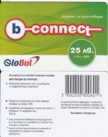 BULGARIA - B-connect By Globul Prepaid Card 25 Leva, Sample - Bulgaria