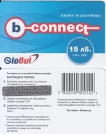 BULGARIA - B-connect By Globul Prepaid Card 15 Leva, Sample(no CN) - Bulgaria
