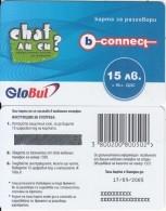 BULGARIA - Chat, B-connect By Globul Prepaid Card 15 Leva(matt Surface), Exp.date 17/09/05, Sample - Bulgaria