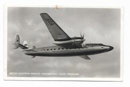 """BRITISH EUROPEAN AIRWAYS """" ELIZABETHAN """" CLASS AEROPLANE 1953  - VIAGGIATA FP - 1946-....: Era Moderna"""