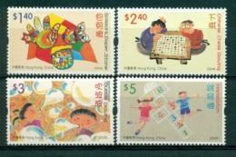 HONG KONG CHINA 1109/12 Jeux D'enfants - échecs Chinois, Marelle - 1997-... Région Administrative Chinoise