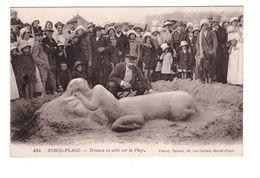 62 Berck Plage Cpa Mythologie Femme Centaure Travaux De Sable Sur La Plage Edit Thorel à Berck Correspondance 1917 - Berck