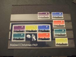MALAWI - 1969 NATALE/COLOMBA 5 VALORI + BF - NUOVI(++) - Malawi (1964-...)