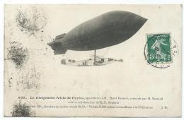"""CPA LE DIRIGEABLE """" VILLE DE PARIS """" APPARTENANT A M. HENRI DEUTSCH, CONSTRUIT PAR M. SURCOUF ET KAPFERER - Dirigeables"""