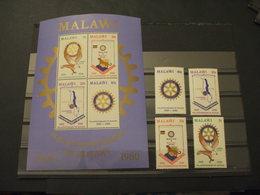 MALAWI - 1980 ROTARY/UCCELLO 4 VALORI + BF - NUOVI(++) - Malawi (1964-...)