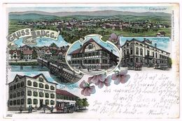 BRUEGG BE 1902 - Colorierte Litho - BE Bern