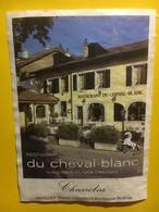 8090 -   Chasselas Restaurant Du Cheval Blanc Gavillet Frères Anières Genève Suisse - Etiquettes