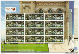 2016-ED. 5034 A 5036 SERIE COMPLETA EN PLIEGO PREMIUM- Museos. MNCC, MACBA E IVAM - Mismo Numero-NUEVO - 1931-Aujourd'hui: II. République - ....Juan Carlos I