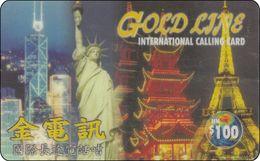 China Phonecard Liberty New York Eifelturm Frace Pagoda - Landschaften