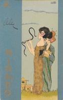 Illustration Raphaël Kirchner - Série Mikado IV N° 4 - Carte Dos Simple 1901 - Kirchner, Raphael