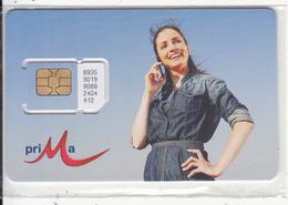 BULGARIA - Girl On Phone, Prima GSM, Chip 8, Mint - Bulgaria
