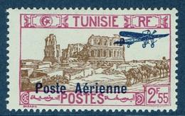 French Tunisia, El Djem, 2f55, 1928, MH VF  Airmail - Tunisia (1888-1955)