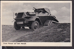 Postkarte Unser Panzer Auf Dem Marsch  1937 - Briefe U. Dokumente