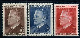 1950 , YUGOSLAVIA , YV.  544 / 546 * , MARISCAL TITO , INCLUYE EL VALOR CLAVE , FALTA EL YV. 547 - Nuevos
