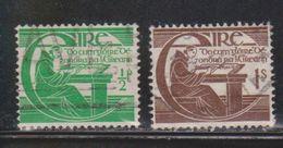 IRELAND Scott # 128-9 Used - 1949-... Republic Of Ireland