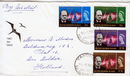 SOLOMON ISLANDS 1966 FDC  CHURCHILL  To  HOLLAND - Salomonen (...-1978)