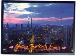 Malaysia. Kuala Lumpur At Night. VG. - Malesia
