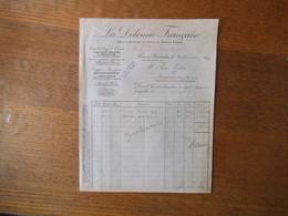 FLAUMONT-WAUDRECHIES NORD LA DOLOMITE FRANCAISE FACTURE DU 31 JANVIER 1927 - France