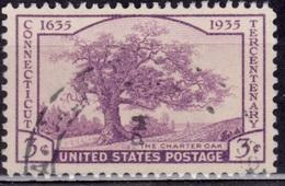 United States, 1935, Charter Oak, 3c, Sc#772, Used - Vereinigte Staaten