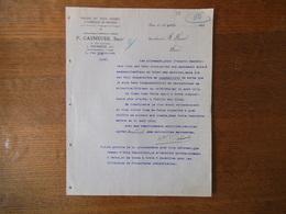 FOURMIES P. CASNEUSE PAPIERS EN TOUS GENRES & FABRIQUE DE BROSSES 30 RUE GAMBETTA COURRIER DU 12 AVRIL 1919 - France