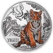 Autriche 2017 : 3€ 'Tigre' ('Tiger') Colorisée - Disponible En France - Austria